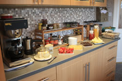 The breakfast bar in Asgard Stromness Bed and Breakfast