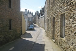 The flagstone streets of Stromness
